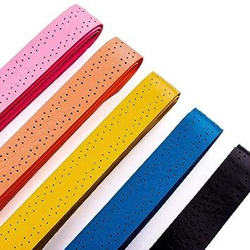 Senston ancha perforado absorbente raqueta de tenis Overgrip - 5/10/15 Paquete Anti Slip Sobregrip Grip raqueta de bádminton raqueta de squash Sobregrip: ...
