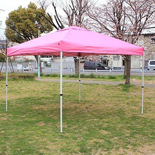 ワンタッチタープ テント(クイックタープ) (2m/2.5m/3m)(ブルー/グリーン/ピンク) B01EWSW2NS 2.5m ピンク ピンク 2.5m