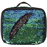 Style.Labs Magic Sequin Lunch Tote, Mermaid/Black (76512)