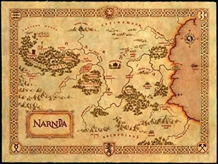 Map Of Narnia Amazon.com: Narnia Map Mini Poster #01 11x17 Master Print: Posters