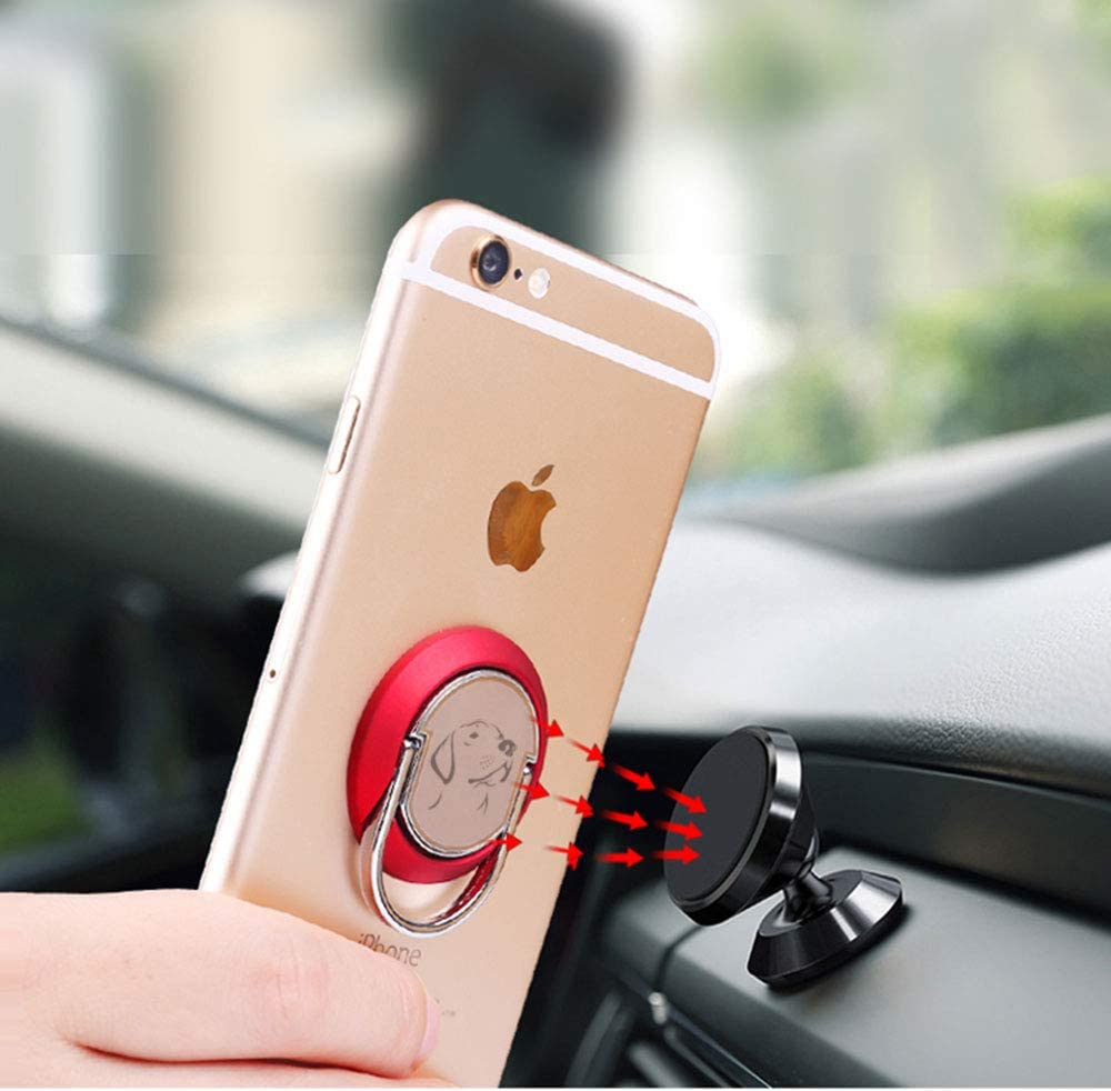 Black1 JAZZUP Cell Phone Ring Holder Cute Koala Phone Stand Smartphone Finger Grip Metal Loop Adjustable Mobile Kickstand for Magnetic Car Mount iPhone Samsung Galaxy Pop Hand Desk Iring