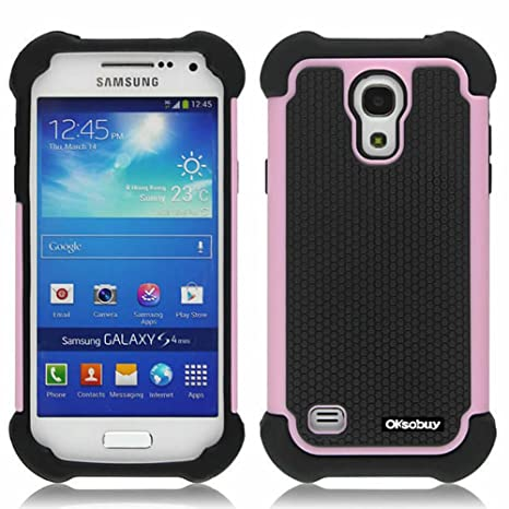 Amazon.com: oksobuy Sumsung Galaxy S4 Mini Modelo, Hybrid ...