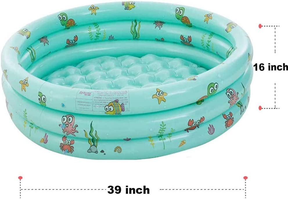 Family Swimming Pool for Outdoor Backyard debieborahtoys 40x16 Inch Inflatable Swimming Pool for Kids 3 Rings Circles Kids Inflatable Kiddie Pool Round Swimming Pools Water Baby Pool Garden
