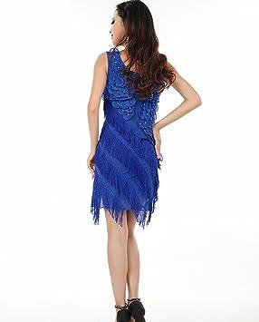 Astage Mujer Carnaval Disfraces 20 Fiesta temática vestido de cóctel, color azul cobalto, tamaño Fits weight unders 135lbs: Amazon.es: Deportes y aire libre