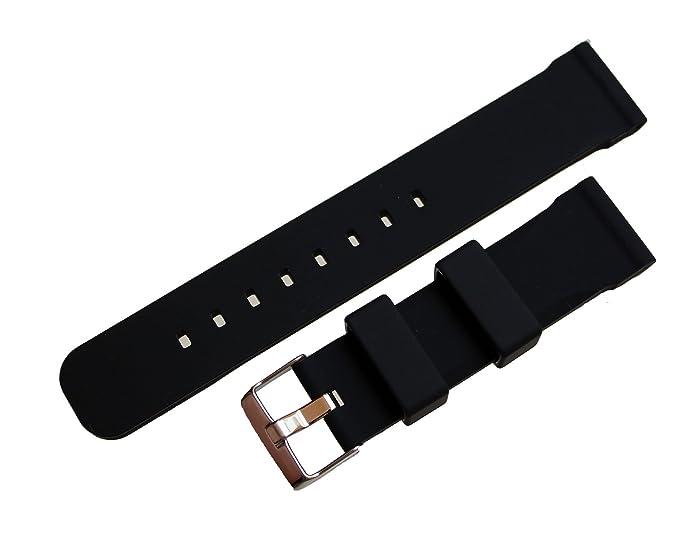 Caucho Silicona buceo Diver Scuba Relojes de pulsera Watch banda Buceo 24 mm: Amazon.es: Relojes