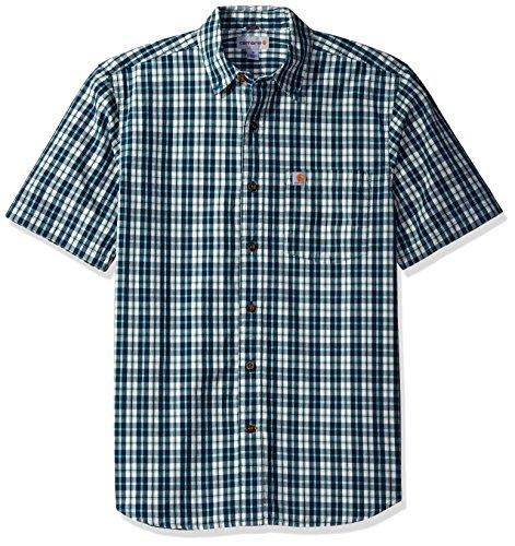 carhartt-mens-essential-plaid-button-down-short-sleeve-shirt-stream-blue-large