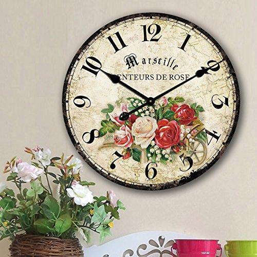 Eruner Romantic Roses Clock, 12