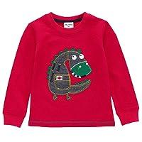 Cielarko Kids Boys T Shirts Long Sleeve Dinosaur Cotton Sweatshirt Autumn Pullover Casaul Tops Children Clothing