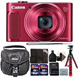 Canon PowerShot SX620 HS 20.2MP Digital Camera Red + 48GB Memory Card + Wallet + Reader + Flexible Tripod + 3pc Cleaning Kit