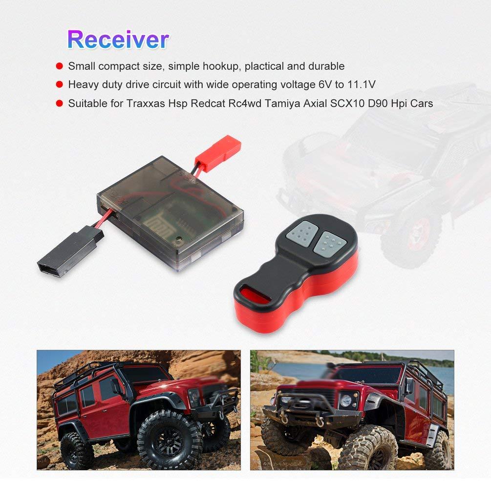 Schwarz Und Rot 2,4G 6-11,1 V Seilwinde Drahtlose Fernbedienung//Empf/änger Universalfernbedienung F/ür 1//10 RC Auto Traxxas Axial SCX10 D90 Hpi Auto