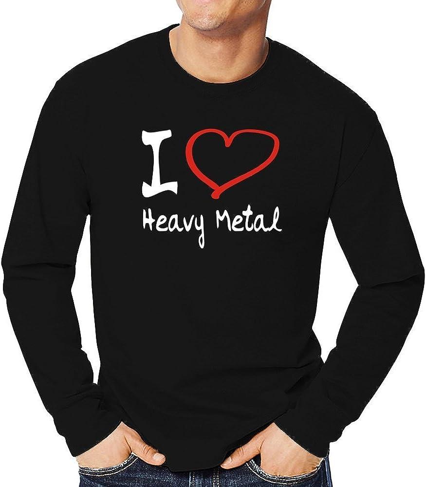 Teeburon I Love Heavy Metal Camiseta Manga Larga: Amazon.es: Ropa y accesorios