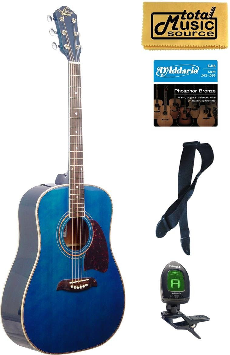 OG2 Oscar Schmidt オスカーシュミット Dreadnought アコースティックギター, Washburn, Blue, NEW - OG2TBL アコースティックギター アコギ ギター (並行輸入)   B00L4JEXT0
