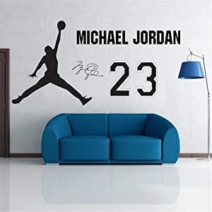 Vinyl Wall Sticker Decal Quote Home Decor New Air Jordan Basketball Jumpman Decal Poster Aj Hot New 2015