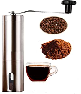 Paneltech Manual Coffee Grinder Spices Miller Stainless Steel Ceramic Burr Hand Crank Bean Mill