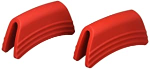 Le Creuset SG100-67 Silicone Handle Grips Set, Cerise
