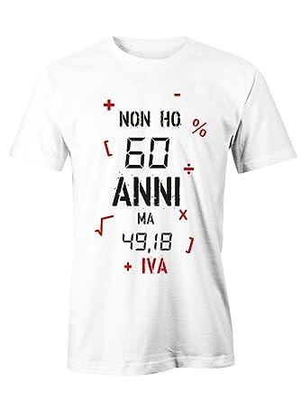 Puzzletee T Shirt Compleanno Non Ho 60 Anni Ma 49 18 Iva Idea Regalo Magliette Simpatiche E Divertenti In Cotone
