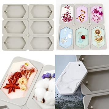 6 cavidades hexagonales para aromaterapia IGEMY de cera, yeso, epoxi, jabón; incluye moldes de silicona para manualidades: Amazon.es: Hogar