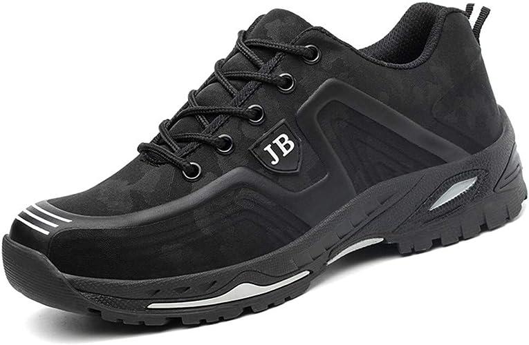 Aizeroth-UK Unisex Hombre Zapatillas de Seguridad con Punta de Acero Antideslizante Transpirable S3 Zapatos de Trabajo Comodas Calzado de Trabajo Deportivos Botas de Protecci/ón Construcci/ón