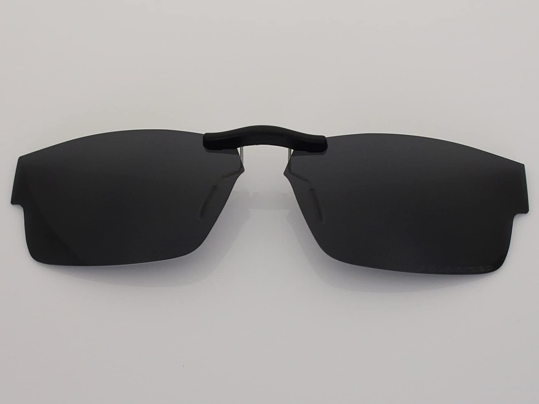 34b65b4fcd Custom Fit Polarized CLIP-ON Sunglasses For Ray-Ban RB5228 55X17 Black - -  Amazon.com