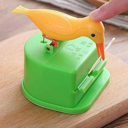 Random Color pu ran Lovely Mushroom Home Restaurant Automatic Toothpick Holder Dispenser Plastic Box