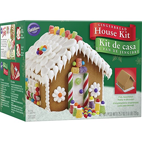 Enjoy family time during the holiday season with this classic Gingerbread House Kit. Skip the baking and go straight to the decorating. This kit includes: 1 pre-baked, pre-assembled gingerbread house (measures approximately 5.25 in. wide x 5....