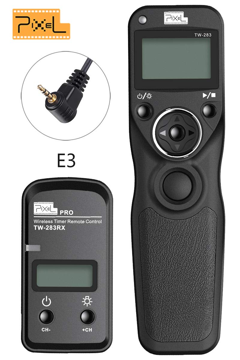 PIXEL Digital DSLR Cameras Shutter Cord Release Remote Control Timer for Canon 5D Mark III//5DS//5DS R//5D Mark II//5D Mark IV//1Ds Mark II//1Ds Mark III//1D Mark IV//1D Mark III//1D Mark II N//1D Mark II