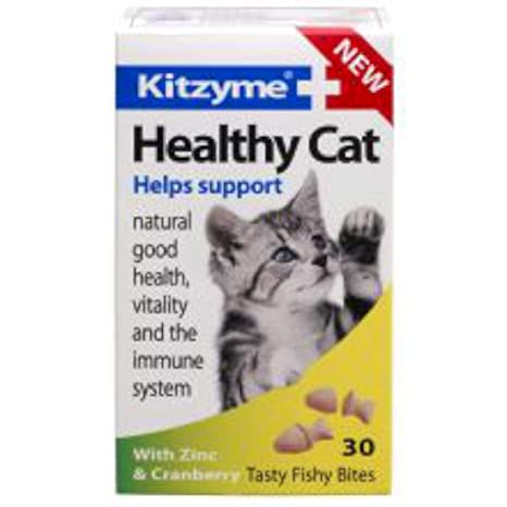 Amazon.com: Kitzyme gato saludable Fishy picaduras con zinc ...