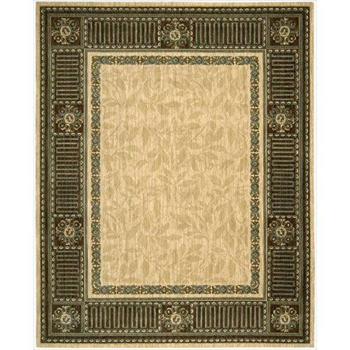 Nourison Vallencierre (VA27) Beige Rectangle Area Rug, 8-Feet 3-Inches by 11-Feet 3-Inches (8'3