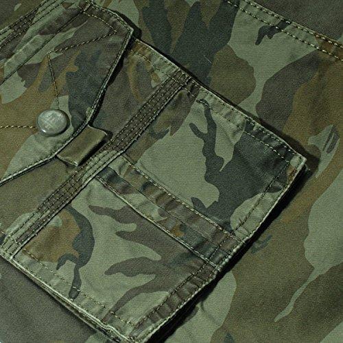 Panegy Adultes Combat Shorts pour Homme/Garçon Coton Bermudas Treillis Militaire Cargo Armée Pantalon de Travail… 6
