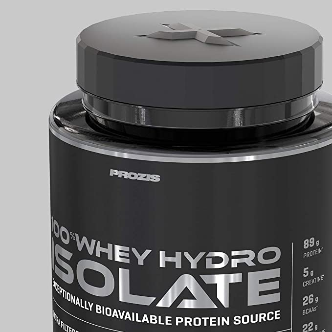 Prozis 100% Whey Hydro Isolate SS para la Quema De Grasas, la Recuperación Muscular y la Musculación, Fácil de Digerir y Bajo en Carbohidratos,