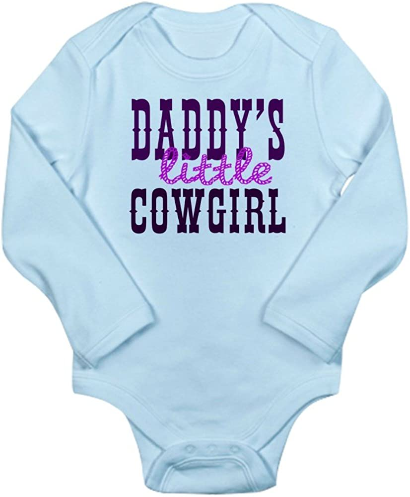 CafePress Daddys Little Cowgirl Cute Long Sleeve Infant Bodysuit Baby Romper Sky Blue