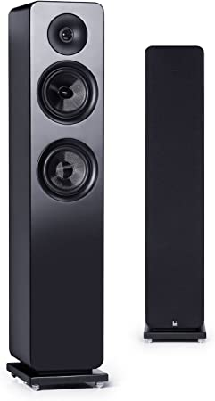 Roth Audio OLIRA3-Altavoz de pie con 2 entradas, 13 cm, Color Negro