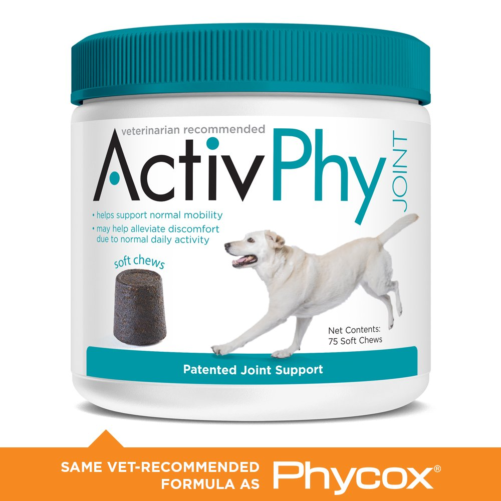 75 count for large dogs ActivPhy 75-Count Patented Joint Support Regular Soft Chews, 30-Pound and Above