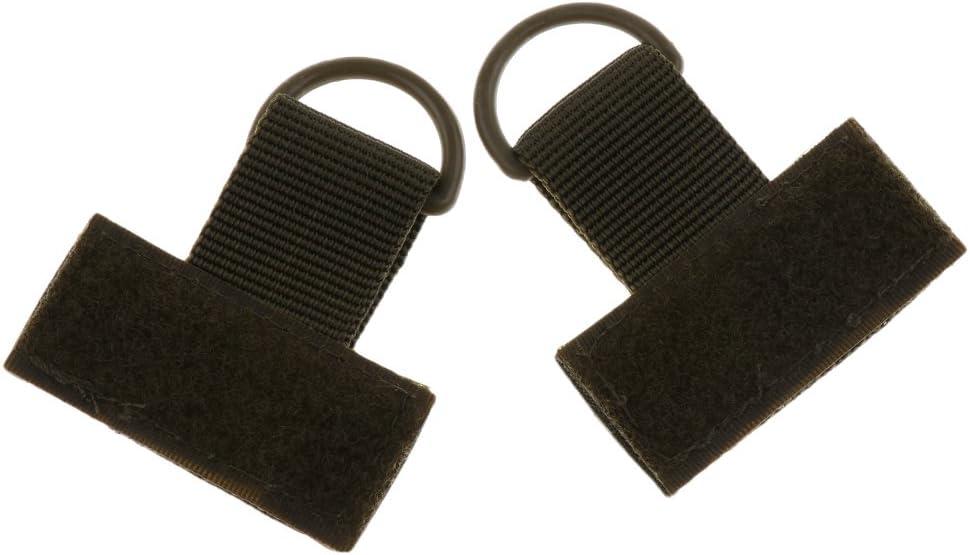 Sharplace 2pcs//set Hiking Backpack Rucksack MOLLE System Nylon Webbing T Hook /& Loop D Ring