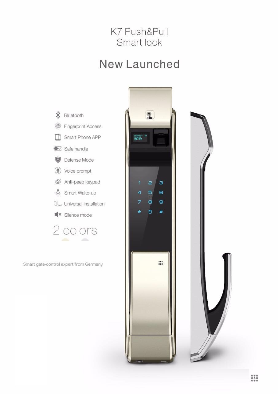 Amazon.com : Kaadas K7 Digital Doorlock Smart Push Pull (Fingerprint, Card, Password & Key) : Camera & Photo