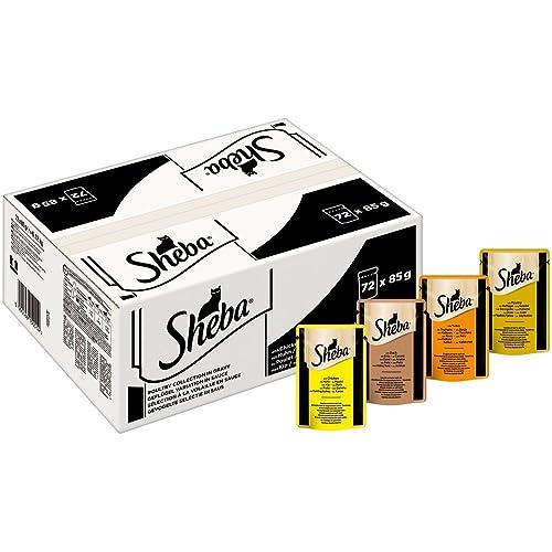 Sheba Mini Filets Sachets Fraîcheur pour Chat Adulte en Sauce 72x85g