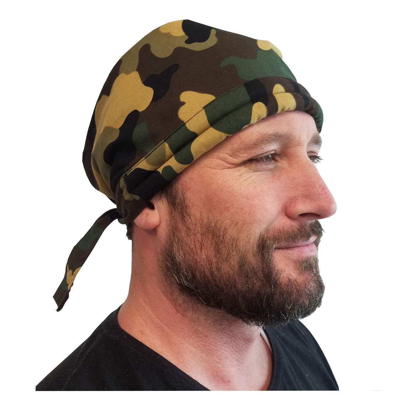 Blubandoo | Water Evaporative | Bandoorag Skull Cap | With Cooling Crystals | 1 Pc | Unisex | Available in Army Camouflage