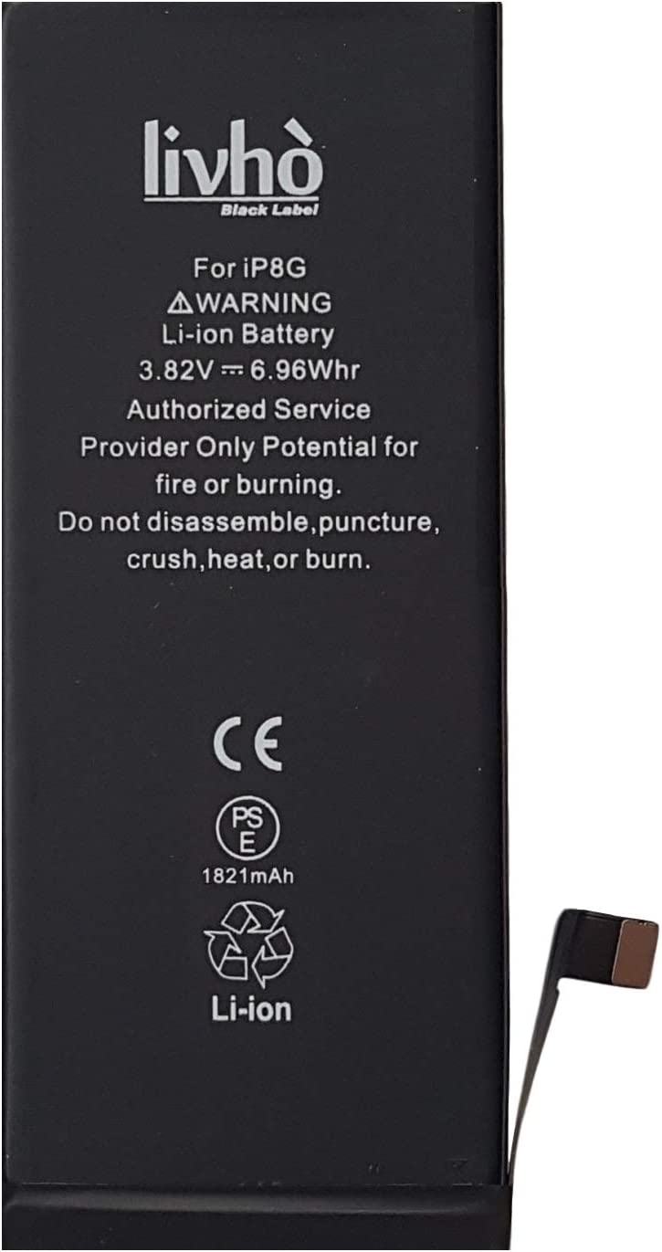 NO Cycles; Lasts longer livh/ò/® Black Label Battery replacement compatible with iPhone 8