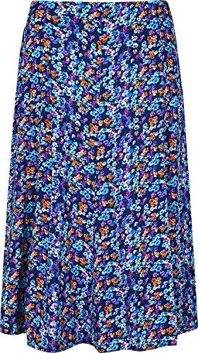KK Fashion Lines - Falda - trapecio - para mujer Multi Floral