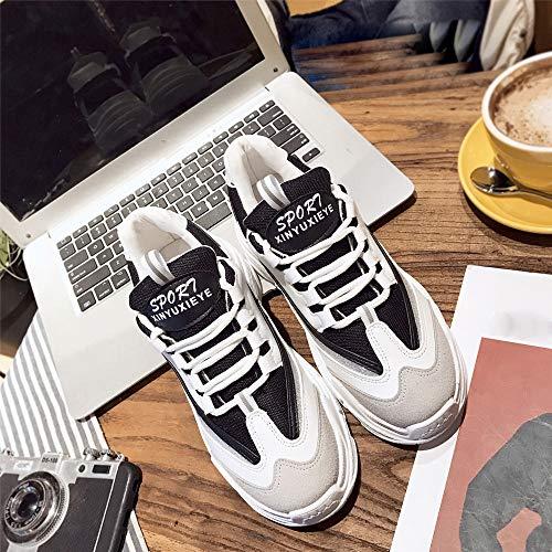 Femmes Plateforme Décontracté Décontractées Femme Baskets Mode Loisir Sneakers Chaussures Noir Dtuta CXq0Rwx