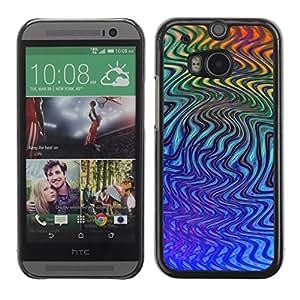 TopCaseStore / la caja del caucho duro de la cubierta de protección de la piel - Abstract Abstract Lines - HTC One M8