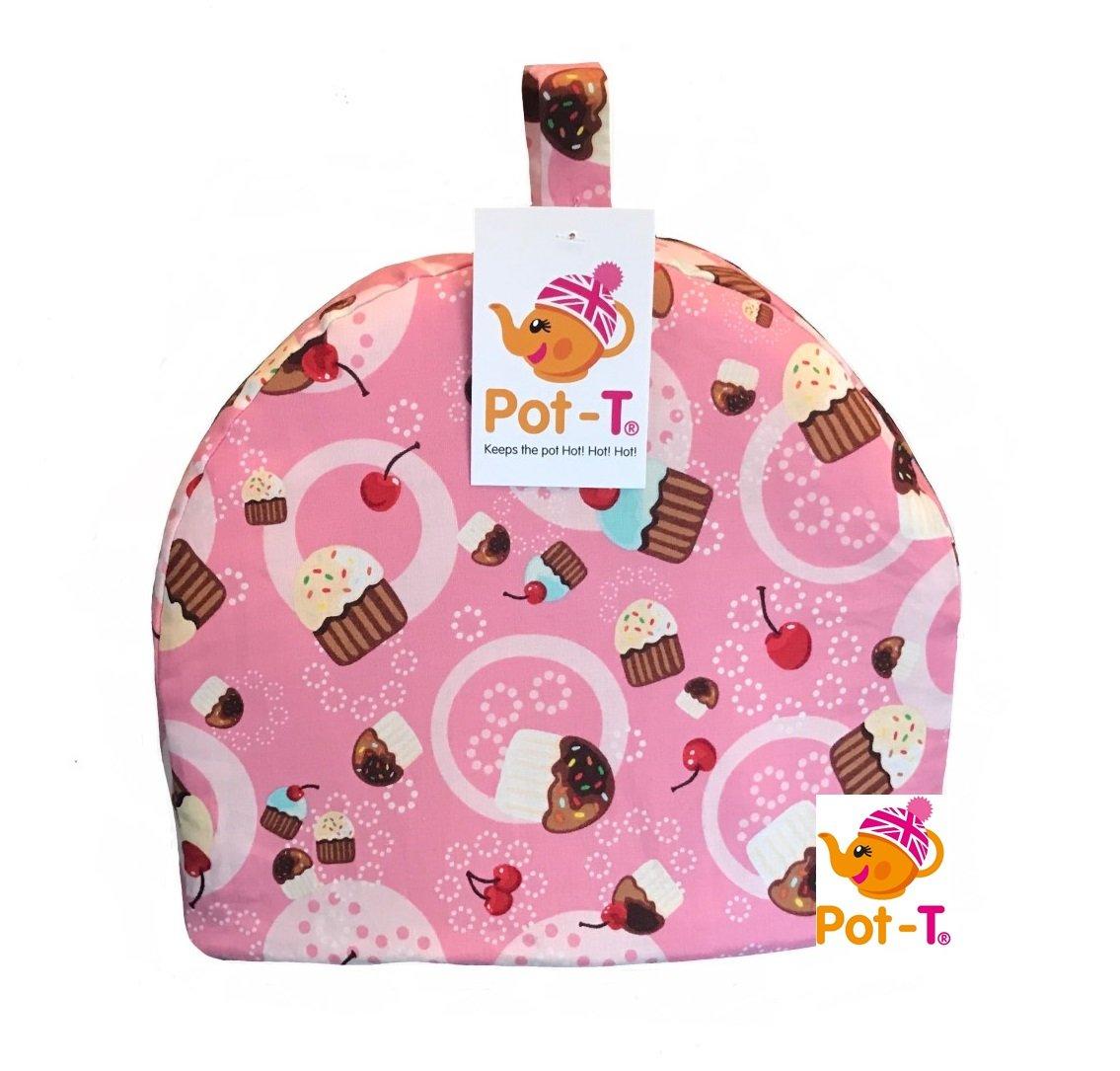 Pot-T® INSULATED Tea Cosy Cozy in Pink Cupcakes (Mini 16.5cm(h) x 8.5cm(d) x 20cm(l)) Coolcozycovers LTD