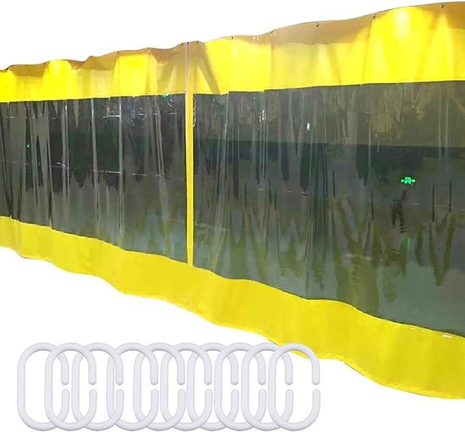 LSXIAO Transparente Cortina De Lona,Impermeable Panel De ...