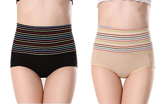 c87c012ea Ritu Creation Women s Cotton Spandex High Waist Panty Tummy Control ...