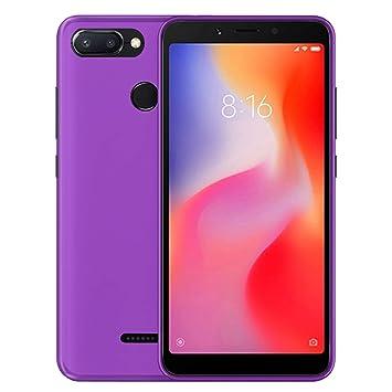 TBOC® Funda de Gel TPU Morada para Xiaomi Redmi 6 - Redmi 6A (5.45 Pulgadas) de Silicona Ultrafina y Flexible [No es Compatible con el [Xiaomi Redmi 6 ...