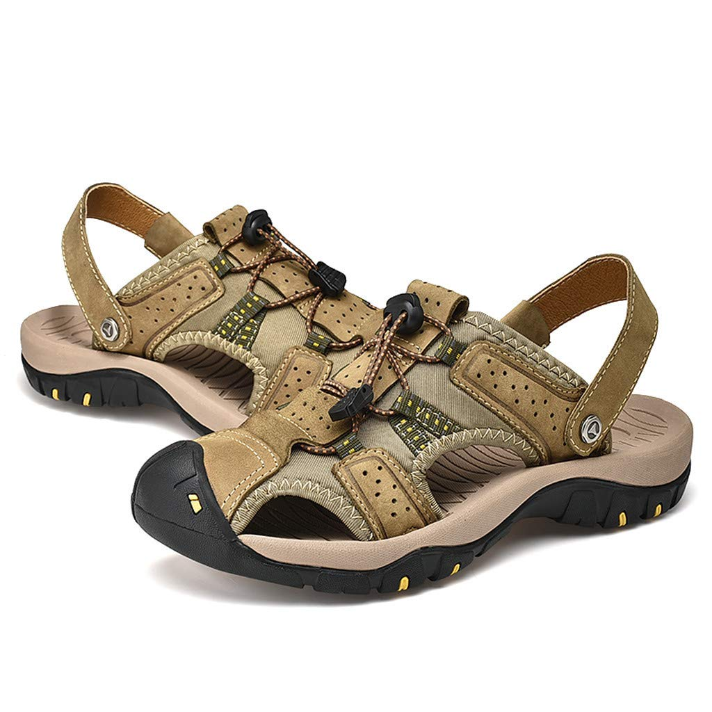 Midress Shoes Summer Outdoor Mens Fashion Flats Slippers Beach Shoes Breathable Sport Sandals by Midress (Image #4)