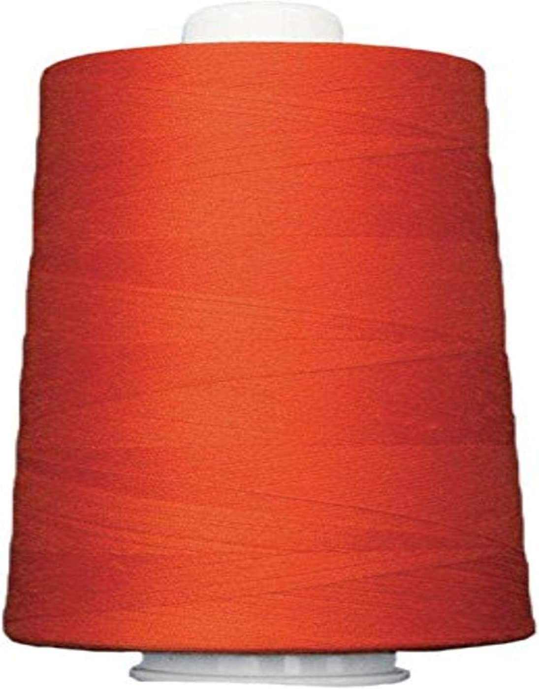6000 yd Tangerine Superior Threads 13402-3155QC Omni 40W Polyester Thread