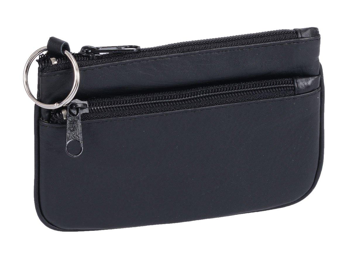 Schlüsseltasche BASIC in Echt-Leder, schwarz, 11x8cm 11.01.531