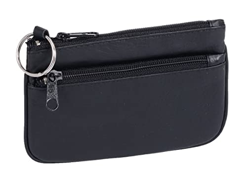 Cartera-Llavero BASIC, de Cuero, Negra 11x8cm: Amazon.es ...