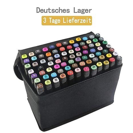 tongfushop 80 Farbige Graffiti Stift Fettige Mark Farben Marker Set,Twin Tip Textmarker Graffiti Pens für Sketch Marker Stift